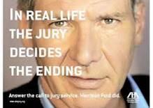 In real life the jury decides the ending