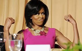 michelle obama's arms