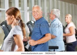 seniors on a treadmill