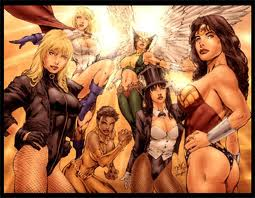 sexy superheroines in leotards